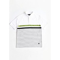 Arnett Baju Pria Polo Shirt Lengan Pendek White