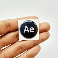 ADOBE AFTER EFFECT Emblem Stiker Resin Aksesoris Casing PC dan laptop