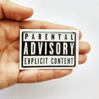 PARENTAL ADVISORY Emblem Stiker Resin Aksesoris BODY MOBIL DAN MOTOR