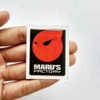 MARU'S FACTORY Emblem Stiker Resin Aksesoris MOTOR VESPA