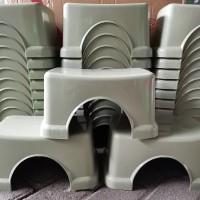 Bangku/Kursi Plastik Pendek/Kursi Jongkok Abu abu