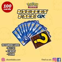 100 Kartu Pokemon TCG Cards Random Bulk Mystery Pack GX Guaranteed