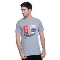 T Shirt Go Macan/GRY White