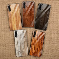 WoodGrain Glass Case Samsung Galaxy Note 9 Note9 SamsungNote9 Casing
