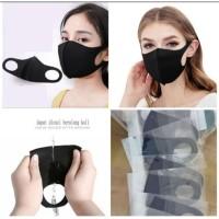 Masker Kain hitam/Scuba