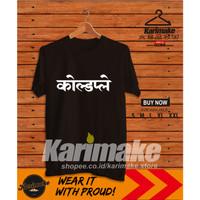 Kaos Band Coldplay India Font Kaos Musik - Karimake