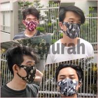 masker skuba motif army kain scuba anti polusi scuba mask termurah C - HIJAU ARMY