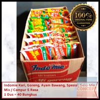 Indomie Mix Campur 5 Rasa Kari Ayam Bawang Goreng Spesial Soto 1 Dus