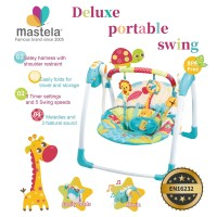 MASTELA Deluxe Portable Baby Swing / Kursi Duduk Ayun Bayi - BLUE-6579