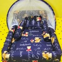Kasur Bayi / Kasur Kolam Kelambu / Tempat Tidur Bayi Kitty Termurah