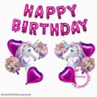 Set balon foil unicorn little pony ulang tahun anak birthday dekorasi