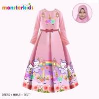 Baju Muslim Gamis Anak Karakter (LITTLE PONY, LOL, FROZEN, UNICORN)