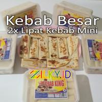 Kebab Frozen Besar 2x Lipat Kebab Mini Frozen Isi 10 King Bukan Tasaji