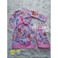 Baju Gamis/Dress Anak Karakter 1-5th - Kuda Poni Pink