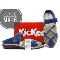 Sandal Kickers Wanita Slip On Kode MK-16 Biru