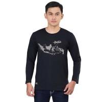 Baju / Kaos Distro / T-Shirt Raglan Pria KLX KZR 449 Lengan Panjang