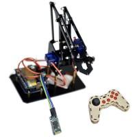 DIY STEAM Arduino Smart RC Robot Arm Acrylic Educational Kit With