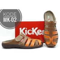 Sandal Kickers Wanita Kode MK-02 Tan Orange
