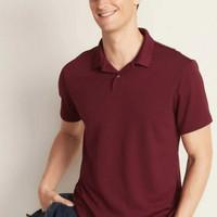 kaos polo bigsize on shirt pria big size maroon original
