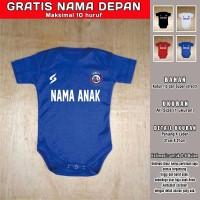 Romper bayi Arema Malang GRATIS NAMA DEPAN Kaos Baju Bola Bayi Jumper