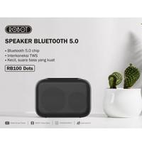 ROBOT RB-100 DOTS SPEAKER BLUETOOTH PORTABLE MINI USB HIGH SOUND BASS