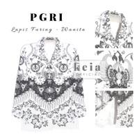 Baju Batik PGRI ( Lapis Furing) PNS JUMBO 4L 5L - WANITA, 4L