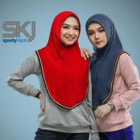 Jilbab Sport / BERGO SKJ Sporty / Hijab Sporty / Kerudung Olahraga