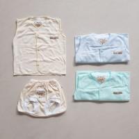 CHIYO Setelan Baju Kutung Celana Pop /Baju Bayi 0-3 bln - Polos