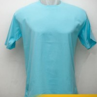 Kaos BIRU TOSCA cotton combed premium soft uk. S,M,ML,L,XL