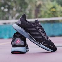 ADIDAS GALAXAR BOUNCE BLACK GREY LIST BLACK Sepatu Original