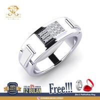 SINAR BERLIAN Jewellery - Cincin emas Pria Berlian EROPA F VVS SB36