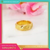 Cincin Emas HONGKONG 9999 Ring Emas Kuning. 021
