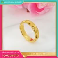 Cincin Emas HONGKONG 9999 Ring Emas Kuning. 004