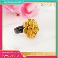Cincin Emas HONGKONG 9999 Ring Ceramic Emas Kuning.