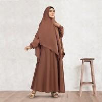 Baju Gamis Syar'i Wanita Deloxa Boutique Warna Cokelat (MM 584)