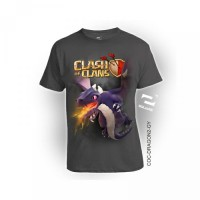 Tufor Baju Kaos Distro 3D COC DRAGON -2 by Square Bahan Katun Kombed 3
