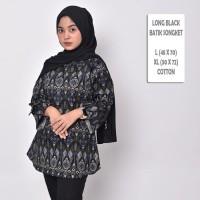 HOT Batik Songket Cewek / Blouse Batik Wanita Premium Terbaru - Black