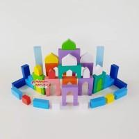 city block masjid mainan kayu SNI