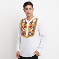 Boho Shirt with Embroidery Chicken Parrot Motive - 3708775