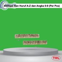 Stempel Ban Huruf A-Z dan Angka 0-9 1/2 (Per Pcs)