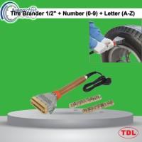 TDL Tire Brander 1/2 Stempel Ban Listrik + Number(0-9) + Letter (A-Z)