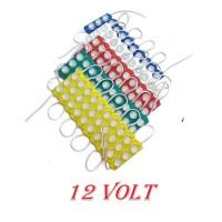 Lampu led modul strip 3 mata besar VARIASI MOTOR MOBIL 3w 12v