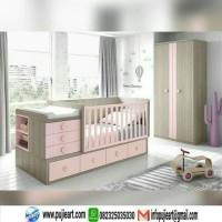 Box Bayi Anak Perempuan Warna Pink /Kasur Anak Cewek Kayu Minimalis