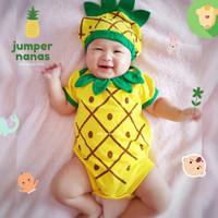 jumper bayi nanas / baby jumpsuit pineapple ermon
