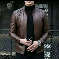 jaket kulit pria super/jaket kulit asli domba Garut