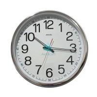 hoot sale Jam Dinding SAKANA 715 Warna Putih Chrome Ukuran 50 cm -