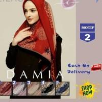 wKf ~ Cashback Jilbab Segi Empat Lilac Cotton French Motif 2 New