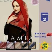wKf ~ Cash_Back100 Jilbab Segi Empat Lilac Cotton French Motif