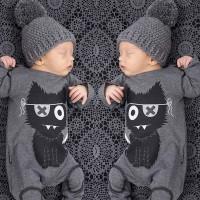 Setelan Baju Romper Bayi Laki-laki / Perempuan Baru Lahir