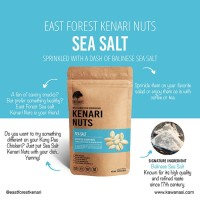 East Forest Kenari Nuts Sea Salt 80 Gr - Kacang Kenari Garam Laut